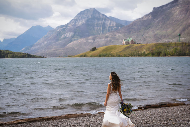 waterton-wedding-lakefront-bride-outdoor